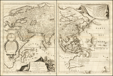 Asia and Asia Map By Vincenzo Maria Coronelli
