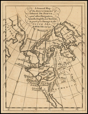 Alaska and Russia in Asia Map By Thomas Jefferys