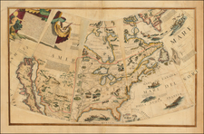 United States, Florida, Texas, Southwest, North America, Canada and California Map By Vincenzo Maria Coronelli