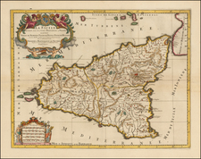 Italy and Balearic Islands Map By Johannes Covens  &  Pieter Mortier