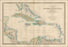 Florida, Caribbean and Central America Map By James Wyld