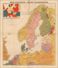 Europe, Poland, Baltic Countries, Scandinavia and World War II Map By L. Bergalin