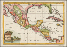 Florida, Texas, Southwest, Mexico and Central America Map By Thomas Jefferys