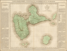 Caribbean and Other Islands Map By Jean Alexandre Buchon