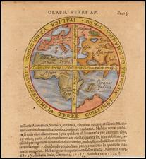 World, World and Eastern Hemisphere Map By Peter Apian