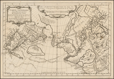 Polar Maps, Alaska, Russia in Asia and Canada Map By Joseph Nicholas de L'Isle