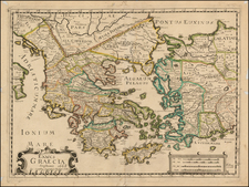Greece, Turkey and Turkey & Asia Minor Map By Francois Jollain