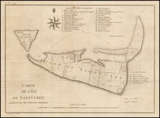 Massachusetts Map By Pierre Antoine Tardieu