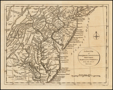 Mid-Atlantic, Maryland, Delaware and Virginia Map By John Lodge