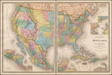 United States and Rocky Mountains Map By Eugène Andriveau-Goujon