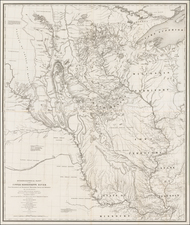 Midwest and Plains Map By Joseph N. Nicollet / William Hemsley Emory