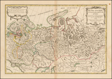 Russia and Russia in Asia Map By Jean Janvier  &  Giovanni Antonio Rizzi-Zannoni