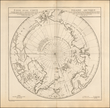 Polar Maps, Alaska, Canada, Russia, Scandinavia and Russia in Asia Map By Didier Robert de Vaugondy