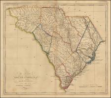 Southeast Map By Mathew Carey