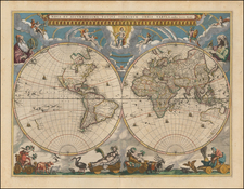 World and World Map By Johannes Blaeu