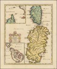 Malta and Sardinia Map By Johann Christoph Weigel