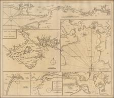 British Isles and British Counties Map By John Senex / Edmund Halley / Nathaniel Cutler