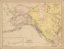 Alaska and Canada Map By J. Martin Miller