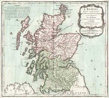 Europe and British Isles Map By Louis Brion de la Tour