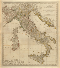 Italy, Mediterranean and Balearic Islands Map By Robert Sayer  &  John Bennett