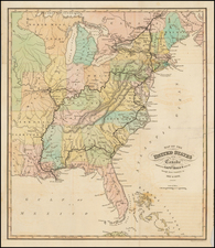 United States Map By William Home Lizars