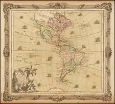 South America and America Map By Louis Brion de la Tour