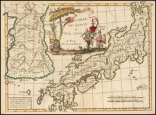 Carte Du Japon et de la Coree . . . By George Louis Le Rouge