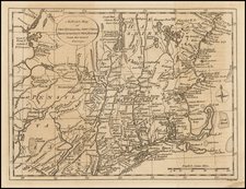 New England and American Revolution Map By John Lodge