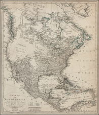North America Map By Johann Walch