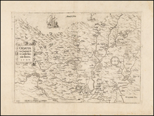 Balkans and Croatia & Slovenia Map By Johann Siebmacher