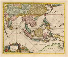 Indiae Orientalis nec non Insularum Adiacentium Nova Descriptio By Nicolaes Visscher I