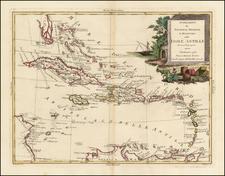 Caribbean Map By Antonio Zatta