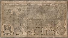 World and World Map By Arnoldo di Arnoldi / Pietro Petruccini
