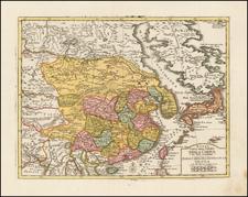 China and Korea Map By Giambattista Albrizzi