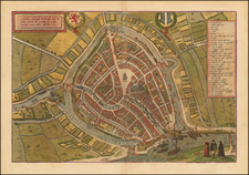 Netherlands Map By Georg Braun / Frans Hogenberg
