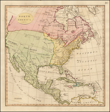 North America Map By Thomas Stackhouse