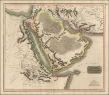 Asia, Middle East, Arabian Peninsula, Egypt and North Africa Map By John Thomson