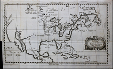 North America Map By Louis de Hennepin