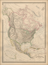 Colorado, Colorado and North America Map By Adolphe Hippolyte Dufour