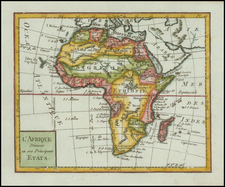 Africa and Africa Map By Citoyen Berthelon