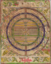 World, World, India, Central Asia & Caucasus, Curiosities and Celestial Maps Map By Anonymous
