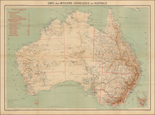 Australia Map By Journal Les Missions Catholiques