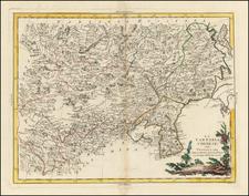 China, Korea and Central Asia & Caucasus Map By Antonio Zatta
