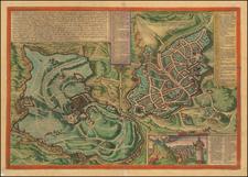 Holy Land Map By Georg Braun  &  Frans Hogenberg