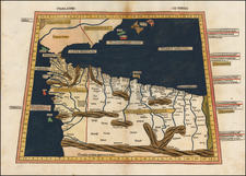 Balearic Islands and North Africa Map By Claudius Ptolemy / Lienhart Holle
