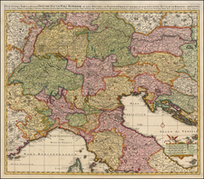 Austria, Hungary, Balkans and Italy Map By Nicolaes Visscher I