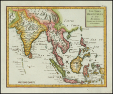 India, Southeast Asia and Philippines Map By Citoyen Berthelon