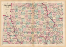 Midwest, Plains and Iowa Map By Asher  &  Adams