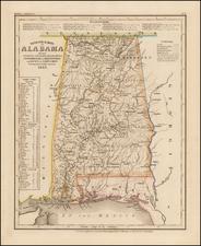 Alabama Map By Joseph Meyer  &  Carl Radefeld