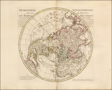 Northern Hemisphere, Polar Maps and Pacific Map By Jean André Dezauche